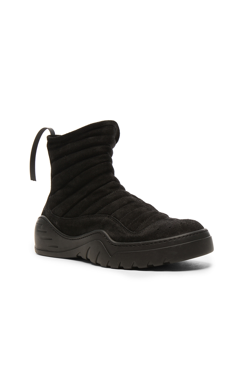 Unravel Suede High Top Sneakers in Black