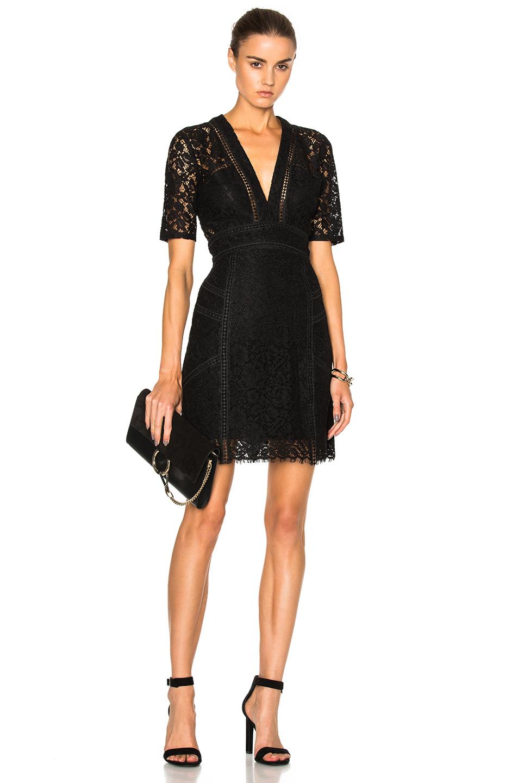Veronica Beard Sage Mini Dress in Black