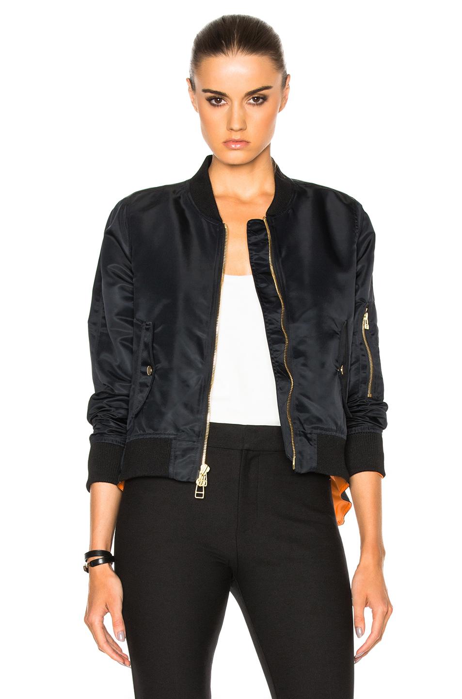 Veronica Beard for FWRD Flight Jacket in Black