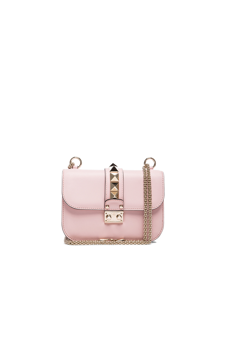 Valentino Small Lock Flap Bag in Pink