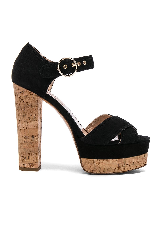 Valentino Suede Erin B Sandals in Black