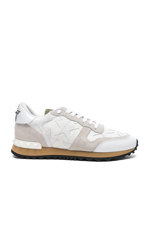 Valentino Runner Sneakers in White