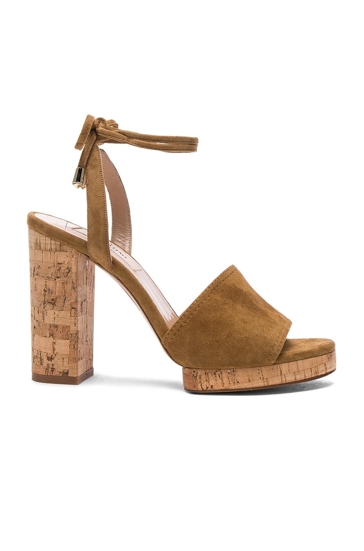 Photo of Valentino Suede Erin B Sandals in Brown online sales