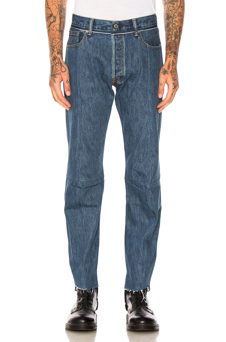 VETEMENTS x Levis Reworked Classic Denim in Blue