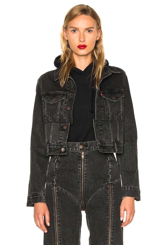 VETEMENTS x Levis Reworked Denim Jacket in Black