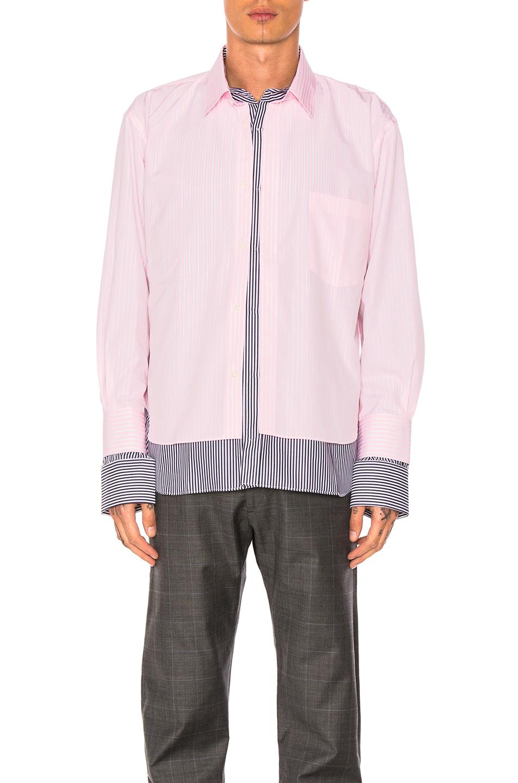 VETEMENTS x Comme Des Garcons SHIRT Shirt in Pink,Stripes