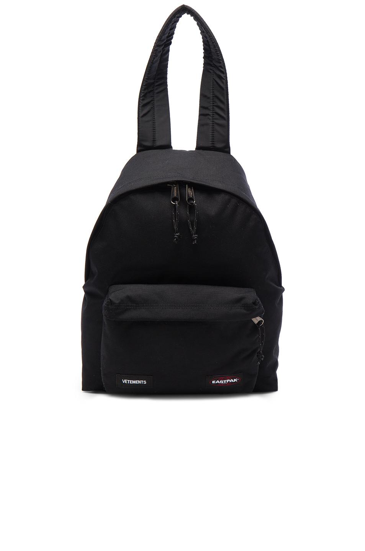 VETEMENTS x Eastpak Backpack in Black