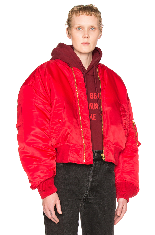 VETEMENTS Bomber Jacket in Red