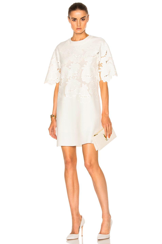 Victoria Victoria Beckham Delft Embroidered Shift in White