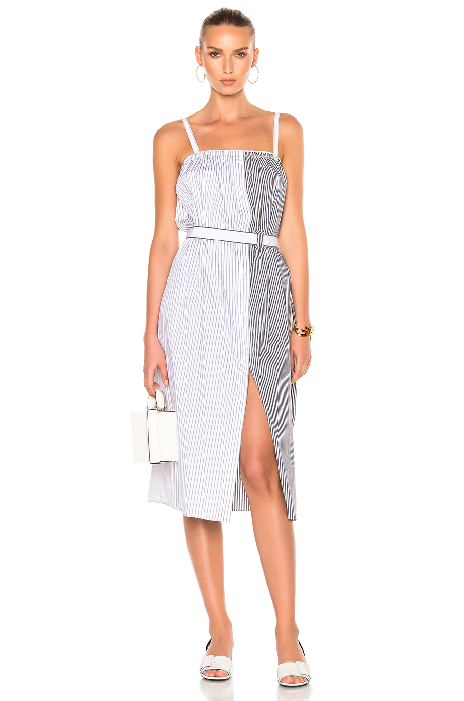 Photo of Victoria Victoria Beckham Panel Cami Dress in Black,Stripes,White online sales