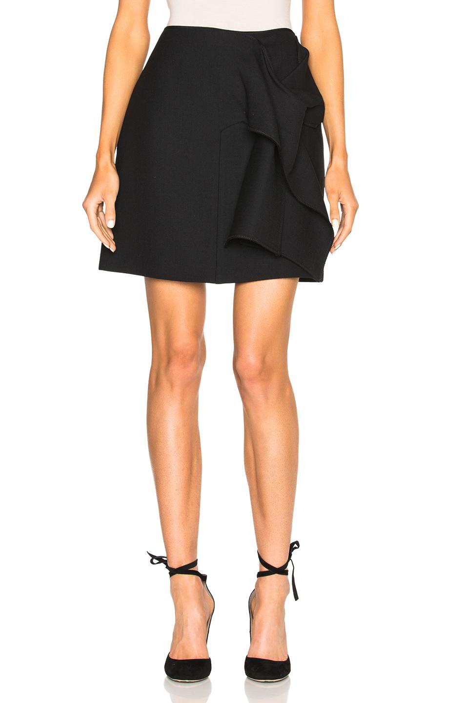 Victoria Victoria Beckham Tie Front Skirt in Black