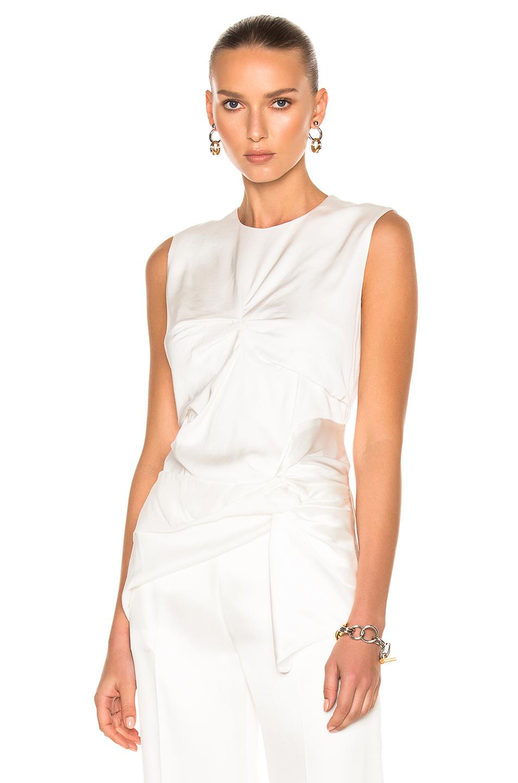 Victoria Victoria Beckham Double Knot Vest Top in White