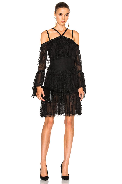 Wes Gordon Off Shoulder Dress in Black