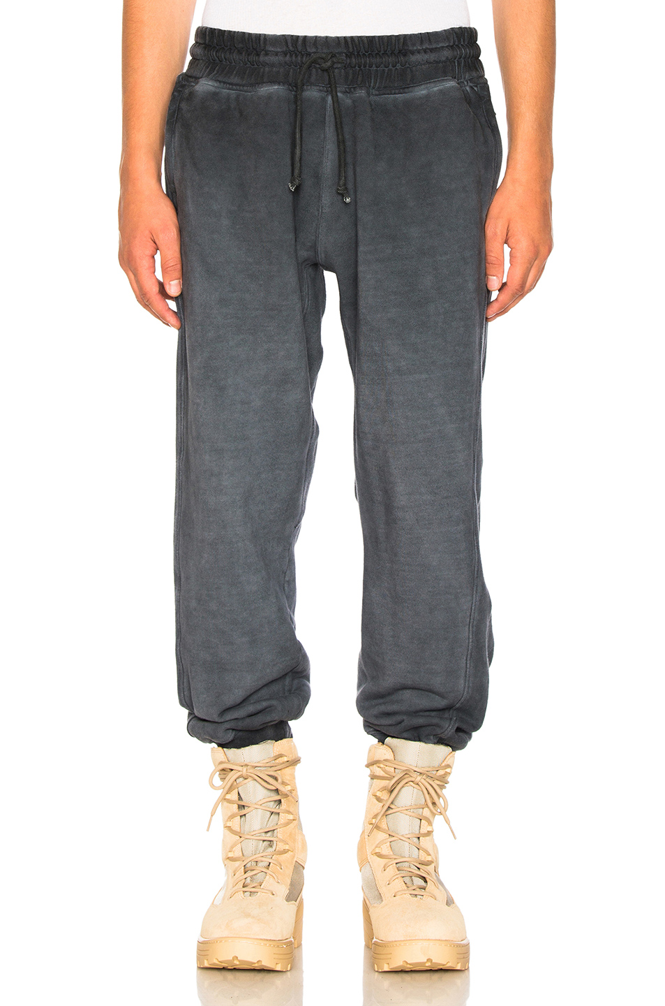 YEEZY Season 4 Paneled Sweatpants in Gray