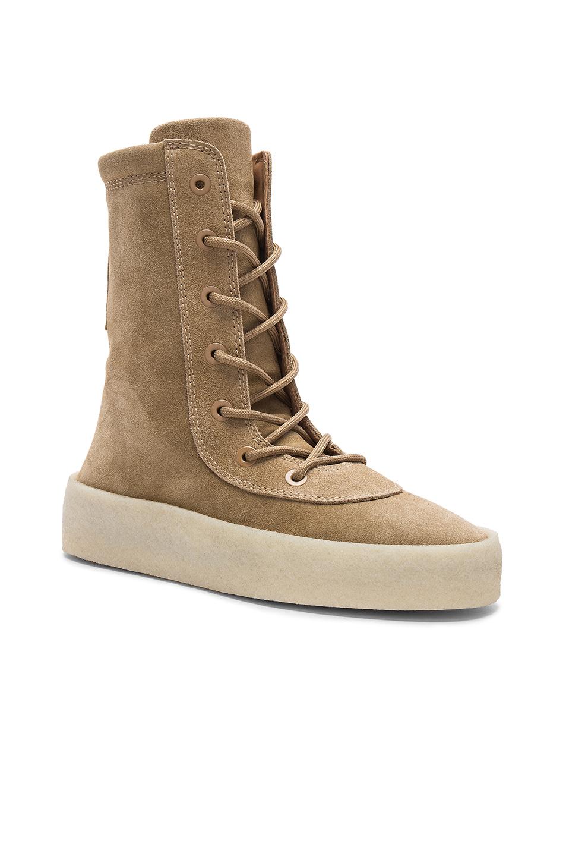 YEEZY Season 4 Suede Crepe Boots in Neutrals