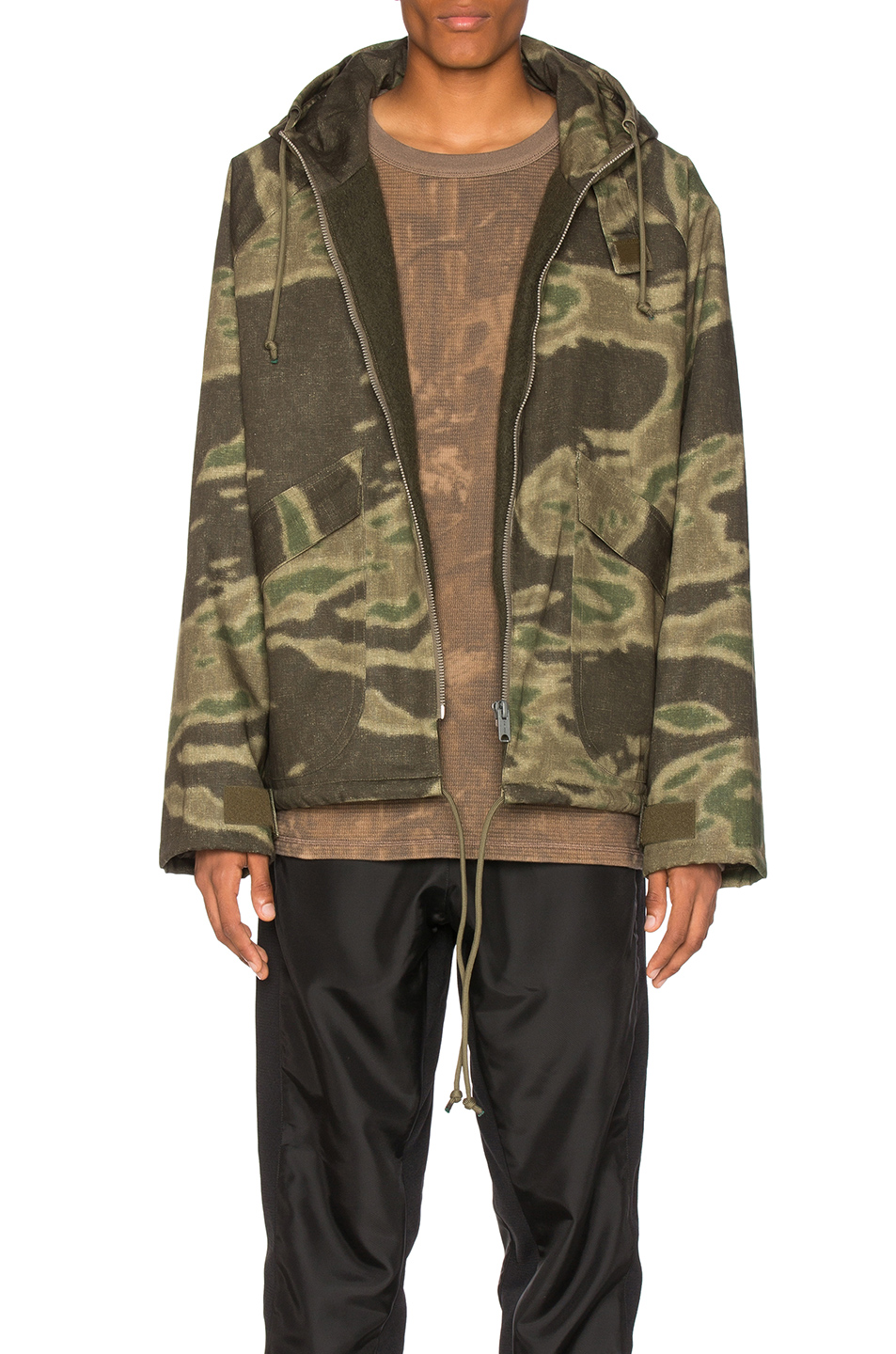 YEEZY Season 3 Printed Anorak in Abstract,Green