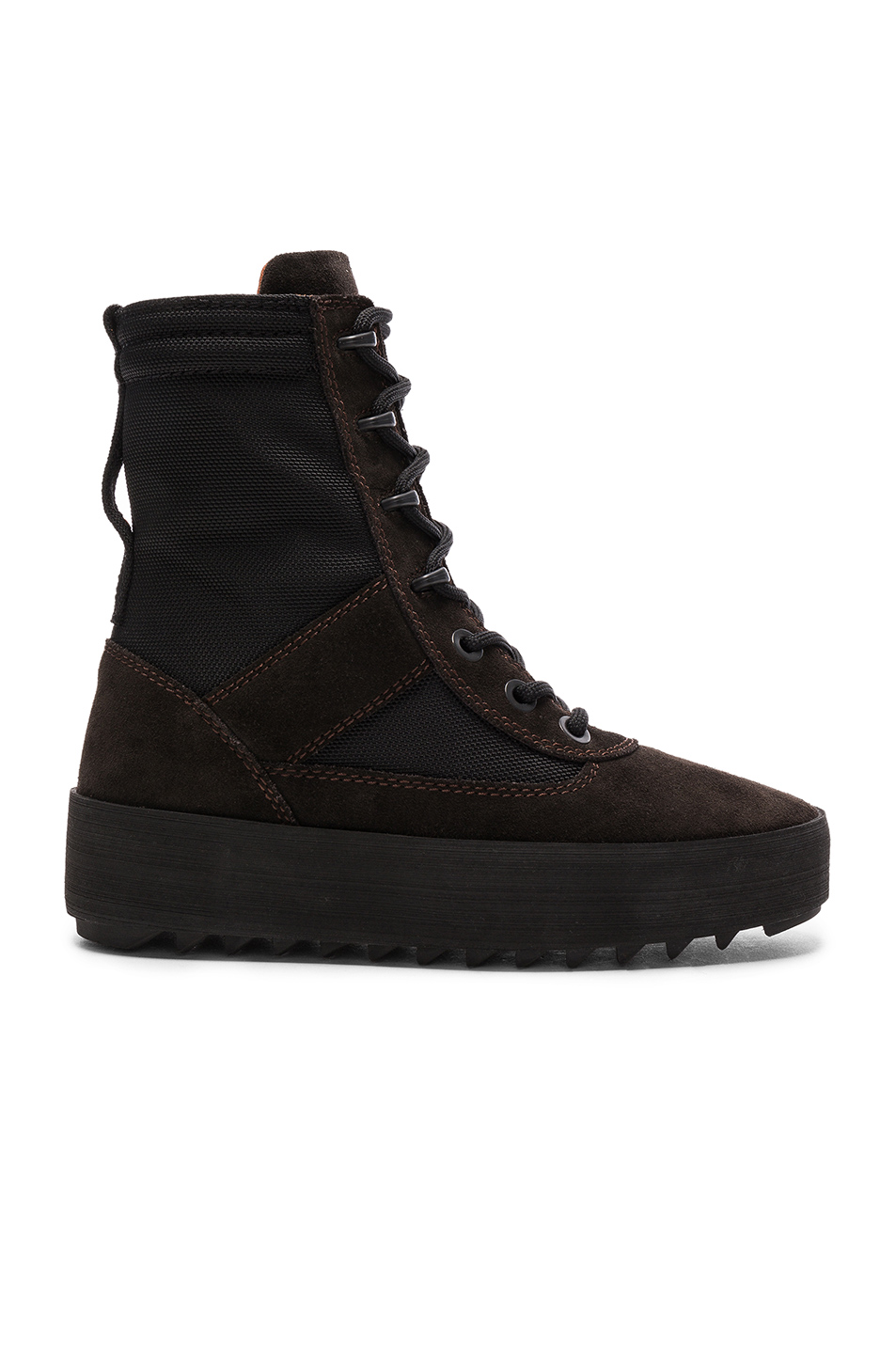 YEEZY Season 3 Suede Military Boots in Black