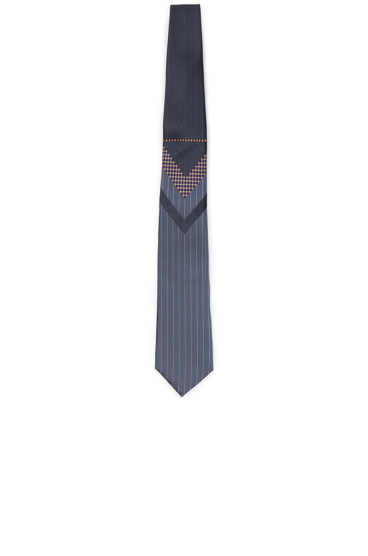Yohji Yamamoto Tie in Blue,Stripes