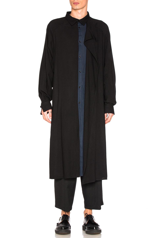 Yohji Yamamoto Light Coat in Black