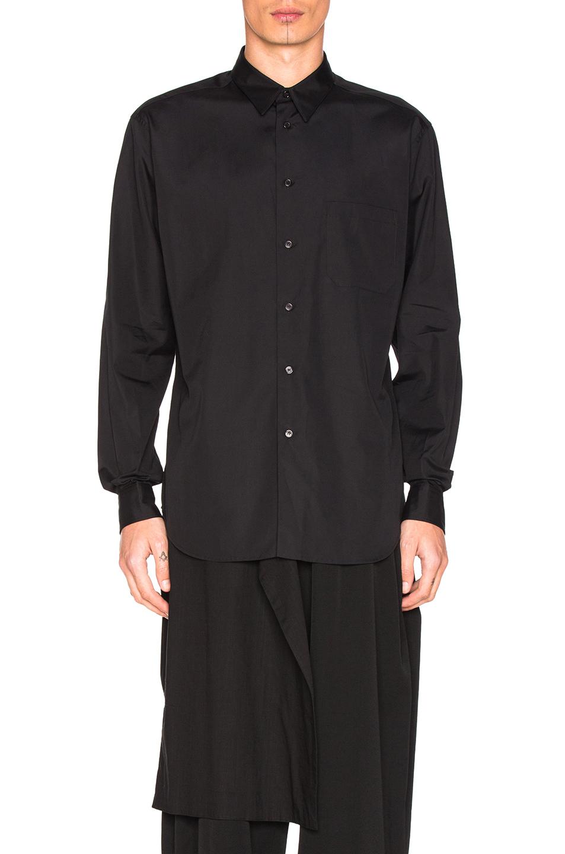 Yohji Yamamoto Button Down Shirt in Black