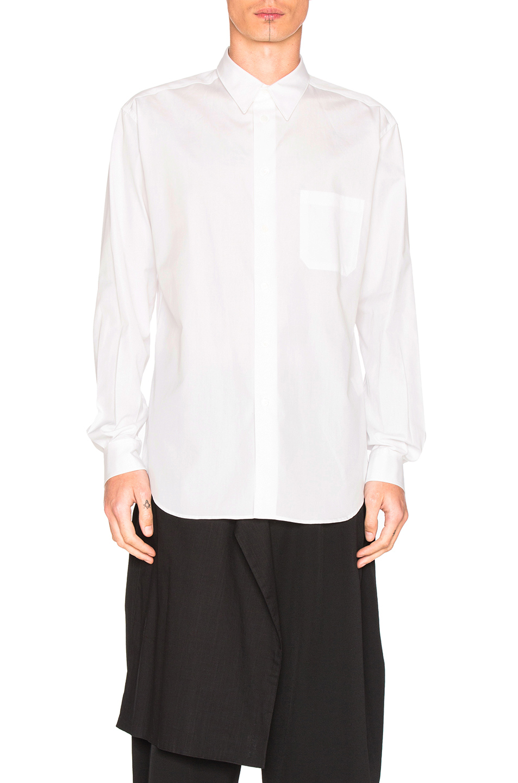 Yohji Yamamoto Button Down Shirt in White
