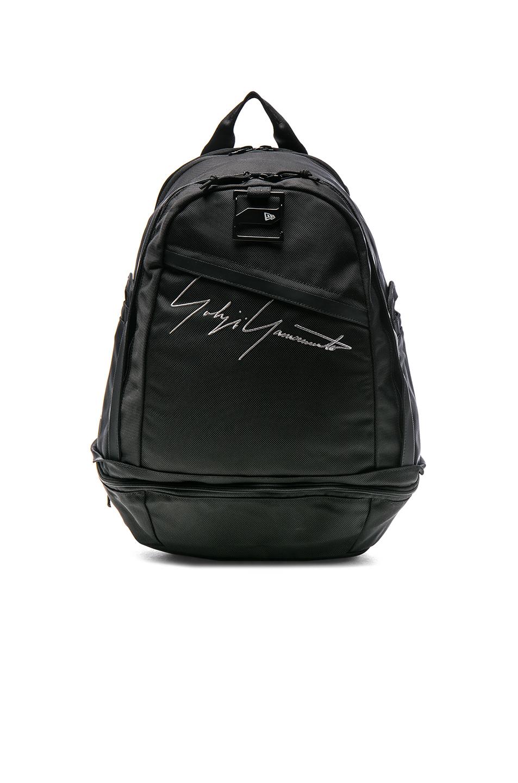 Yohji Yamamoto Logo Backpack in Black