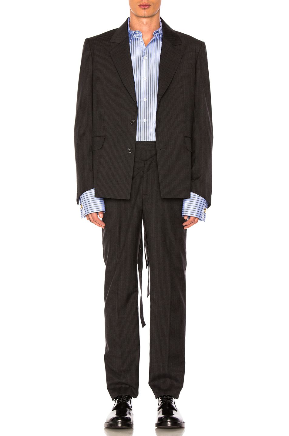 Photo of Y Project Blazer in Black,Stripes - shop Y Project menswear