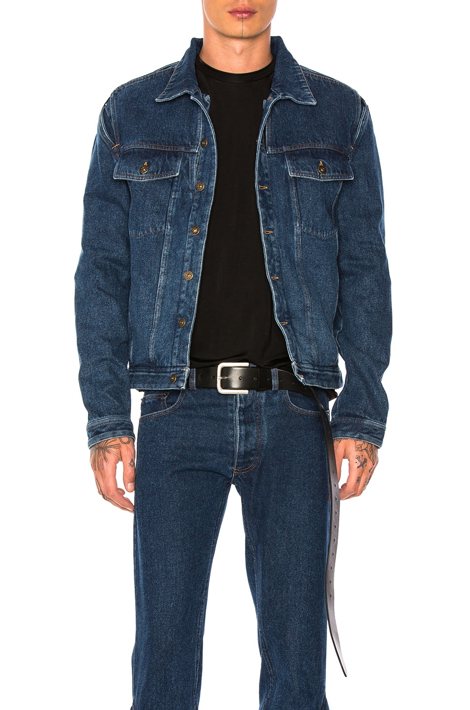 Y Project Denim Jacket in Blue