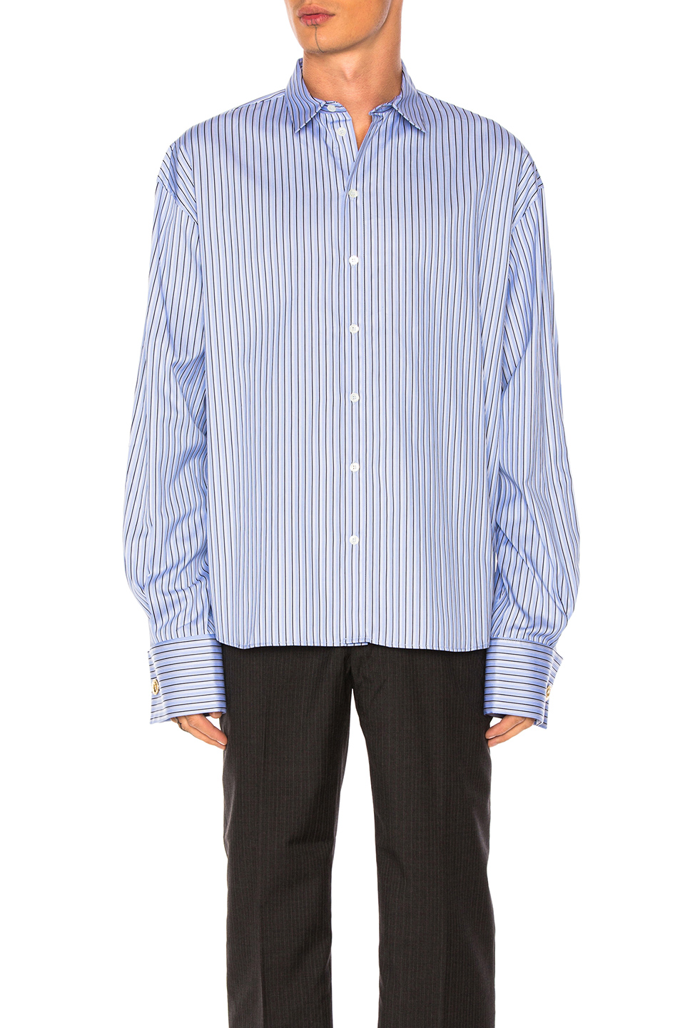 Y Project Shirt in Blue,Stripes