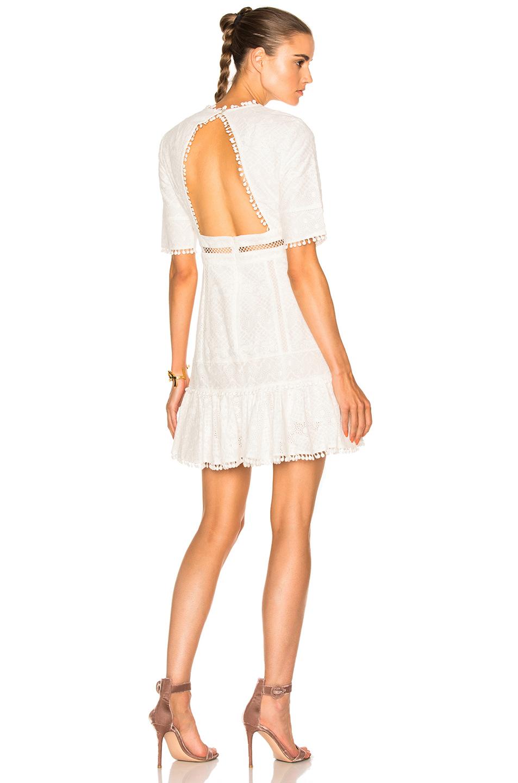Zimmermann Caravan Embroidered Flip Dress in White