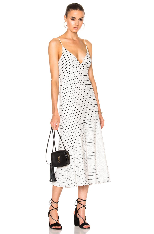 Zimmermann Stranded Tuck Slip Dress in Abstract,White