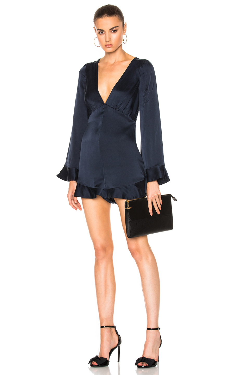 Zimmermann Sueded Tuck Playsuit in Blue
