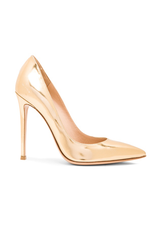 Gianvito Rossi Metallic Leather Gianvito Pumps in Mekong