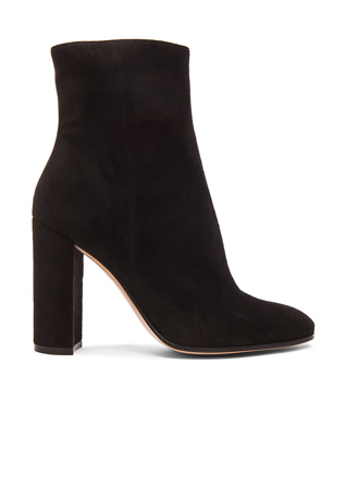Gianvito Rossi Suede Booties in Black