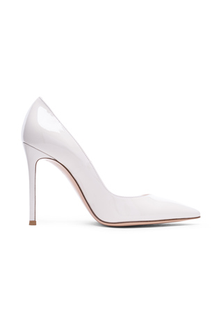 Gianvito Rossi Patent Leather Gianvito Pumps in Off White