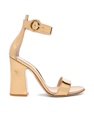 Gianvito Rossi Patent Leather Versilia Sandals in Mekong