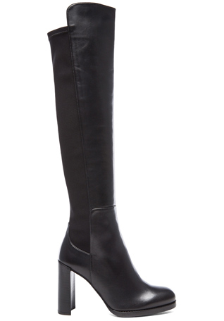 Stuart Weitzman Hijack Leather Boots in Black