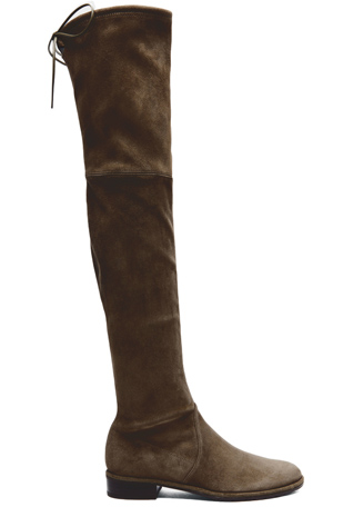 Stuart Weitzman Lowland Suede Boots in Loden