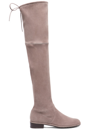 Stuart Weitzman Lowland Suede Boots in Taupe