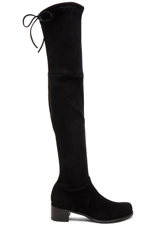 Stuart Weitzman Suede Midland Boots in Black