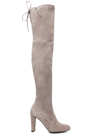 Stuart Weitzman Highland Suede Boots in Topo