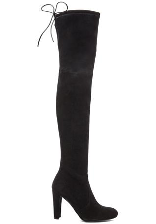 Stuart Weitzman Highland Suede Boots in Black