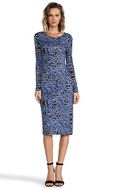 10 CROSBY DEREK LAM Long Sleeve Dress in Periwinkle
