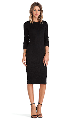DEREK LAM 10 CROSBY Long Sleeve Dress in Black