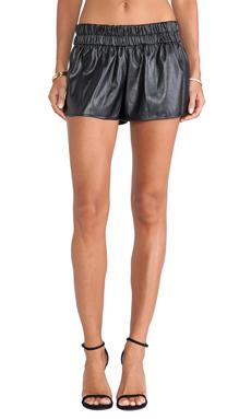 DEREK LAM 10 CROSBY Elastic Waist Boxer Short in Black