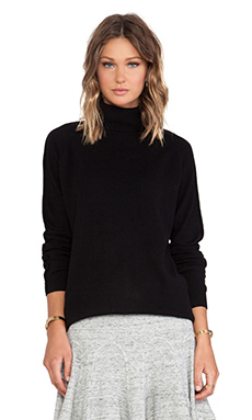 DEREK LAM 10 CROSBY T-Neck Sweater in Black