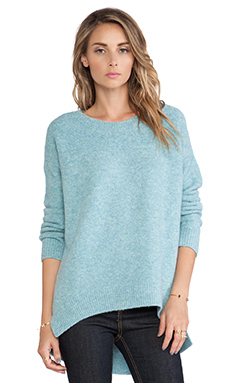 10 CROSBY DEREK LAM Oversized Open Neck Sweater in Mint