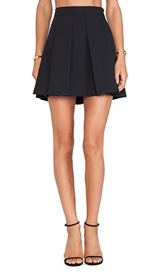 10 CROSBY DEREK LAM Box Pleat Skirt in Black