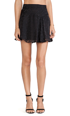 10 CROSBY DEREK LAM Asymmetrical Hem Mini Skirt in Black