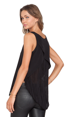 10 CROSBY DEREK LAM V Neck Tank in Black